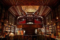 This is the inside of The Lello Bookstore in Porto, Portugal. It's been open since 1906 and is one of Portugal's oldest bookshops. It has also been labelled by Lonely Planet as the third best bookshop in the world and the World Book Night team think it's one of the most beautiful bookshops we've ever seen!
