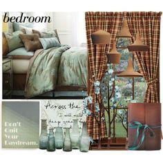 BEDROOM by gerhardferreira on Polyvore featuring polyvore, interior, interiors, interior design, home, home decor, interior decorating, SANDERSON, Jayson Home and bedroom