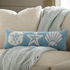 Birch Lane Seashell Hooked Pillow & Reviews | Wayfair