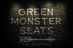Fenway Park, Green Monster Seats, Boston Red Sox, 11x16.5, sports, baseball on Etsy, $45.00