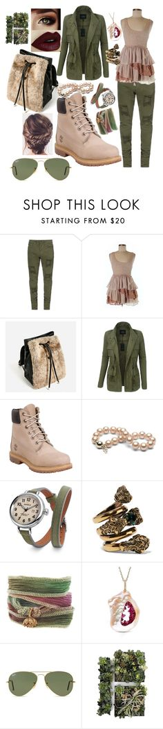 """""""101"""" by sophia-pawz ❤ liked on Polyvore featuring Free People, LE3NO, Timberland, Shinola, Gucci, Catherine Michiels and Ray-Ban"""