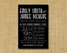 wedding invitation  Great Gatsby style   Art Deco by DickensInk, £10.00