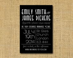 wedding invitation  Great Gatsby style   Art Deco by DickensInk, £10.00