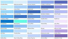 Light Blue Paint Colors beautiful paint colors blue #5 light blue paint color chart | work