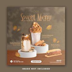 Food Graphic Design, Food Poster Design, Menu Design, Food Design, Instagram Feed Layout, Instagram Design, Social Media Banner, Social Media Design, Recipe Book Design