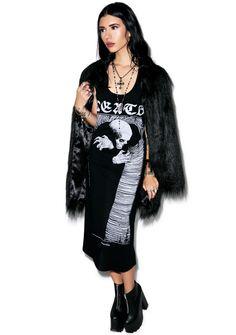 Disturbia Death Midi Dress