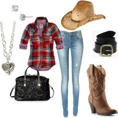 Country Music Concert Outfits | Country Girl Outfit Ideas | country concert outfit ideas - Polyvore