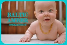Baltic amber teething necklaces (for wearing, NOT chewing)!