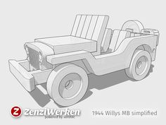 Willys MB simplified cnc/laser by ZenziWerken - Thingiverse Intarsia Woodworking, Router Woodworking, Woodworking As A Hobby, Woodworking Projects, Wood Projects, Woodworking Patterns, Desktop Cnc, Intarsia Wood Patterns, Cnc Maschine