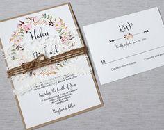 Florales de la boda invitación invitación de la por LoveofCreating