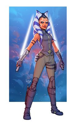 Ahsoka by lorna-ka This actually looks way more like her than the actual coverart from the book.