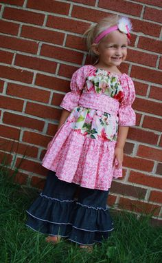 Designer: Create Kids Couture - E-PATTERNS    Size: 18 months - Girls 6    Type: E-Pattern / Downloadable Pattern / PDF Pattern