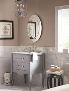 Dresser turned into bathroom vanity.  Now imagine our woodland dresser ... love! #bathroomvanity