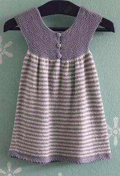 Stribet kjole