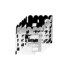 Beniamino Servino. Cubo vuoto merlato/Empty Crenellated Cube.