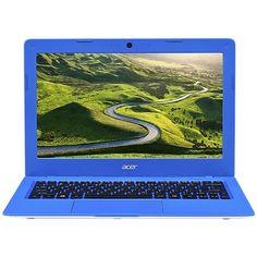 "Acer - Aspire One Cloudbook AO1-431-C3TM 14"" Laptop - Intel Celeron Dual-Core - 2GB Memory - 32GB eMMC flash memory - White/Blue"