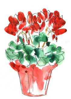 redflowers by an open [sketch]book, via Flickr