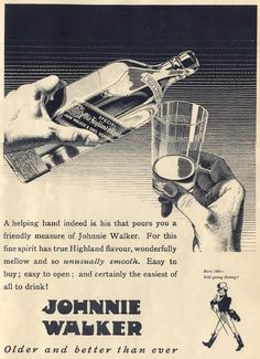 Johnnie Walker Ad...Circa? If anyone knows the year of this ad, feel free to comment.