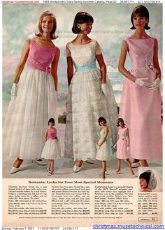 60s And 70s Fashion, 60 Fashion, 1950s Fashion, Fashion History, Vintage Fashion, Vintage Prom, Mode Vintage, Vintage Bridal, 1960s Dresses