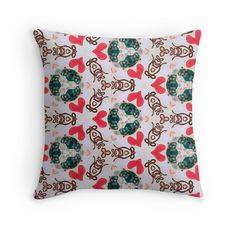 """Seamless pattern ""Abstract figures"""" Throw Pillows by floraaplus 
