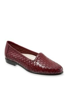 Trotters Dark Red Liz Woven Loafer