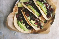 Classic Beans   Greens Tacos | @withfoodandlove