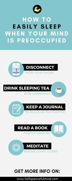 Getting enough sleep is caring for yourself! These tips will help you get some sleep when your mind is restless.