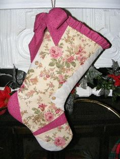 Victorian Country Christmas Stocking