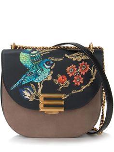 Кожаная сумка с вышивкой от ETRO