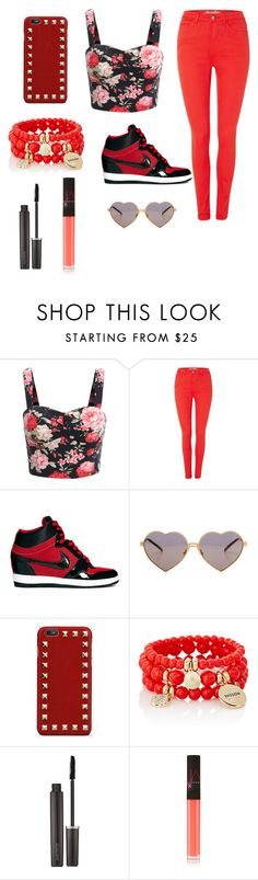 """Red"" by boss-baby ❤ liked on Polyvore featuring BlendShe, NIKE, Wildfox, Valentino, The Limited, Laura Mercier and NARS Cosmetics"