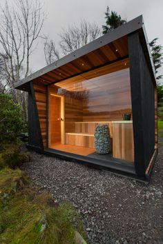 Sauna House, Sauna Room, Backyard Pool Designs, Backyard Patio, Cottage Design, House Design, Sauna Hammam, Building A Sauna, Pool Shed