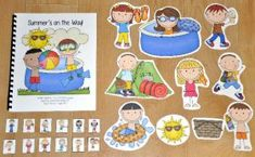 Adapted Song Book : File Folder Games at File Folder Heaven - Printable, hands-on fun! Early Learning Activities, Sorting Activities, Summer Activities, Cookie Sheet Activities, Woodland Animals Theme, File Folder Games, Music And Movement, Ocean Themes, Vocabulary Words