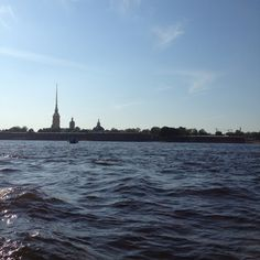 On the river in St Petersburg!