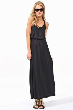 Perfect black maxi. Casual and cool.