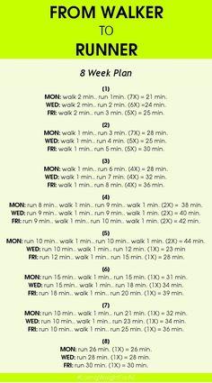 http://www.bkgstory.com How to begin running, fitness, weight loss, walker, health #weightloss: