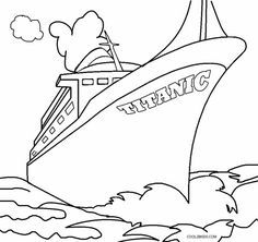 titanic coloring pages Google Search Coloring pagesLine Art