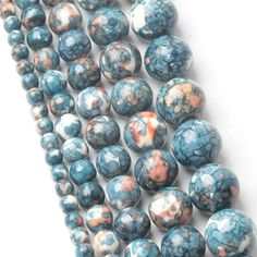 4-12mm Clear Round Natural Gemstone Stone Spacer Loose Beads DIY Jewelry Making