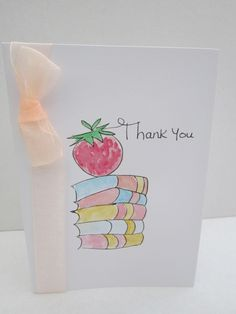 Teacher Thank you, watercolour card, handpainted card, thank you card, thank you gift, teacher card, graduation thank you, parent thank you by AngelAtMyEasel on Etsy Teacher Thank You Cards, Teacher Name, Your Teacher, Thank You Gifts, Sample Thank You Notes, Paint Cards, Unique Cards, Watercolor Cards, Watercolors
