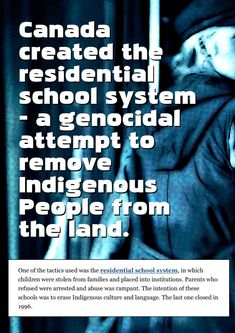 Educational Postcard: Let's set the record straight about what the Residential School were for in Canada - Inspirational Quotes by Ken Whytock Quotes Residential Schools Canada, Indian Residential Schools, Canada Quotes, Indigenous Education, Every Child Matters, Babylon The Great, History Class, School Quotes, History Facts
