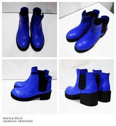 MACH & MACH Natural leather electric blue shoes  Tbilisi, Georgia Paliashvili Str 47a #machandmach #shoes