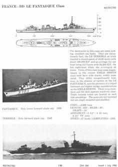 French Le Fantasque class Destroyer