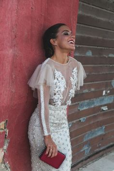 The Bridal Fashion Week for 2020 has come and gone, and it did not disappoint. If you love the classic style of Audrey Hepburn and other mid-century classic Ivory Dresses, Lovely Dresses, Elegant Dresses, Bridal Skirts, Bridal Gowns, Wedding Gowns, Evening Dresses, Prom Dresses, Formal Dresses