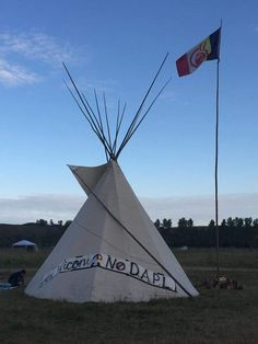 AIM lodge at Standing Rock - August 2016.