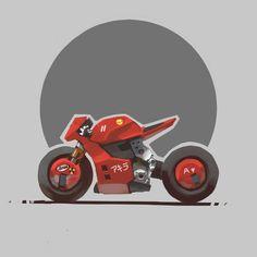 ArtStation - Cyberpunk bike 03, Fernando Correa