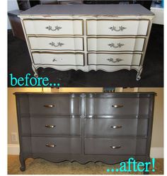 master bedroom dresser redo! Furniture Fix, Quality Furniture, Repurposed Furniture, Bedroom Furniture, Painted Furniture, Bedroom Decor, Refinished Furniture, Furniture Ideas, Armoire Dresser
