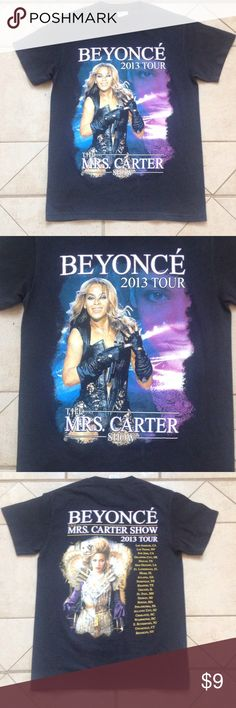 BEYONCÉ 2013 Tour T-Shirt    Sz S GREAT BUY! Describes this Black BEYONCÉ 2013 Tour T-Shirt that measures 18 inches from armpit to armpit; and is 25 1/2 inches in overall length. delta Tops Tees - Short Sleeve