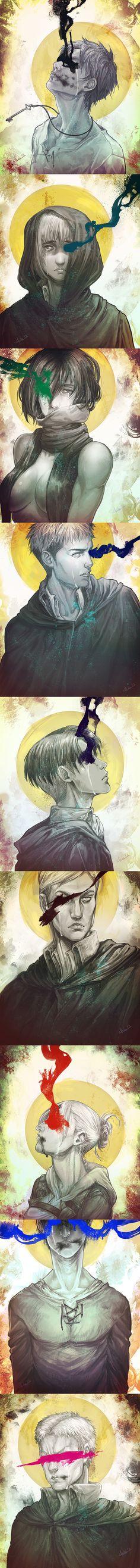 Shingeki No Kyojin/Attack on Titan fan art by idaiku17
