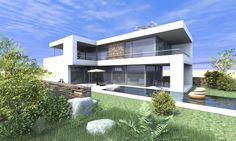 "Modern Design home ""L-Form"" by www.a2cube.de"