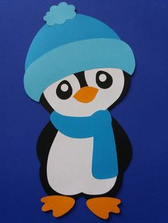 me ~ Penguin 2 paint Pinguin 2 malen Winter Art Projects, Winter Crafts For Kids, Felt Crafts, Holiday Crafts, Paper Crafts, Christmas Drawing, Christmas Art, Toddler Crafts, Preschool Crafts