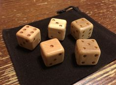 Set of Handmade Wooden Dice 2 3 5 or 6 Count 3/4 by RedStarArts